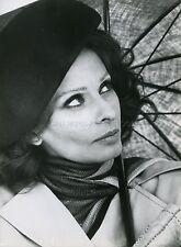 SOPHIA LOREN  BRASS TARGET 1978 VINTAGE PHOTO ORIGINAL