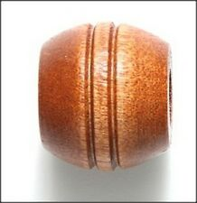 Maple Wood Grooved Large Barrel Beads