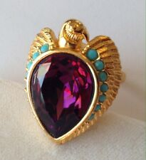 ELIZABETH TAYLOR FOR AVON EGYPTIAN FALCON REVIVAL RING SIZE 5