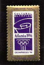 1996 Atlanta Cultural Olympic and Sports Stamp Exhibition Pin