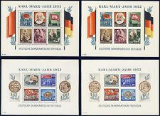 DDR, Block 8/9 A/B, Wz. 2 YII, tadellos postfrisch, gepr. Schönherr, Mi. 600,-