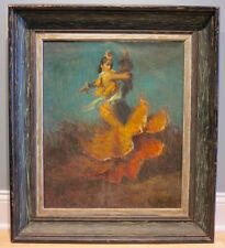 c.1960's Spanish Flamenco dancers oil painting artist Spain Argentina