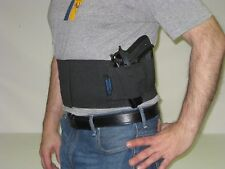Tactical Belly Band Concealed Gun Pistol Holster SWEAT BLOCKER Duty Belt MEDIUM