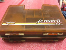 BS2 Vintage Fenwick 15 Woodstream Tackle Box Fly Fishing Case Double Sided