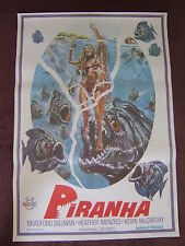 26 x 39 TURKISH POSTER - PIRANHA - JOE DANTE BARBARA STEELE KEVIN MCCARTHY