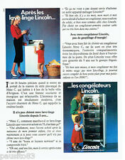 PUBLICITE ADVERTISING 1016  1980   Lincoln  les lave-linge  les congélateurs