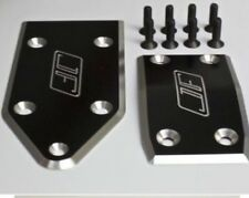 JOFER RC ALUMINIUM SKID PLATE SET FRONT & REAR IN (BLACK) FOR THE LOSI 5IVE-T