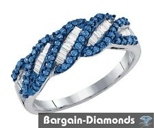 blue white diamond .48 carats infinity ring 925 wedding birthday love journey
