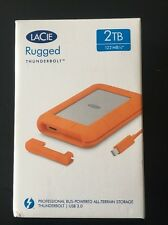 DISCO DURO LACIE RUGGED THUNDERBOLT 2TB 122MB/s USB 3.0 WINDOWS Y MAC NUEVO