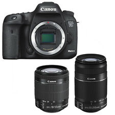 Canon EOS 7d Mark II + Canon EF-S 18-55mm is STM + Canon EF-S 55-250mm is II nuevo