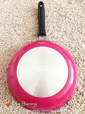 """Cuisinart Classic Non-Stick Skillet Pan, Choose 8"""" 10"""" 12"""" Pink Turquoise Green"""