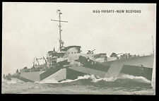 vintage USS Frigate New Bedford military ship postcard