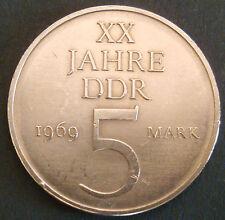 5 MARK Münze 1969 DDR 10g NICKELPROBE  20 Jahre DDR jaeger 1524 Deutschland (245