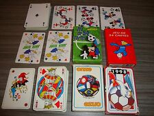 LOT 4 JEUX DE CARTES SUR LE FOOTBALL , Mickey : etc