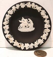 VINTAGE BLACK WEDGWOOD JASPERWARE Winged Horse SMALL PLATE / PIN TRAY  ENGLAND !