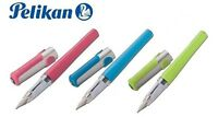 PELIKAN PELIKANO FOUNTAIN PEN-PINK, BLUE, GREEN & BLACK BARREL-MEDIUM NIB-P480 M