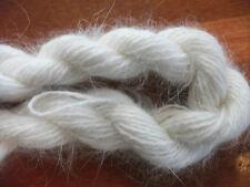 ONE SKEIN white angora rabbit fur yarn