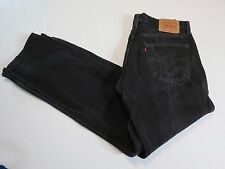 Vintage Men's Levi's BLACK  501  MADE IN THE USA 34 X 312  NICE VINTAGE 501-0660