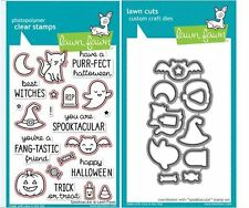 Lawn Fawn Photopolymer Clear Stamps & Die Combo- SPOOKTACULAR Halloween ~698,699