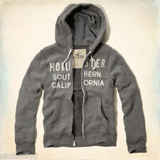 NWT HOLLISTER A&F MENS Gray Sweatshirt Hoodie Jacket Southern California NEW L