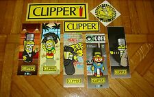 ACCENDINI CLIPPER - 8 ADESIVI / STICKERS - CLIPPER LIGHTERS - MECHEROS - BRIQUET