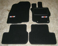 Black Car Mats - Mitsubishi Lancer Evolution 10 RHD AUTO (Evo X)+ RalliArt Logos