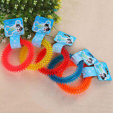 Non-toxic Rubber Pet Dog Puppy Dental Teeth Healthy Chew Biting Ring Play Toy TO