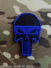 Punisher Skull Thin Blue Line Law Enforcement Patch