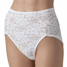 BALI Lace 'N Smooth White Shaping Brief Plus Size 2XL
