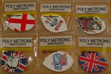 5 Sets (5X3) Assorted  Poly Metronic Pear Shaped Hard Dart Flights