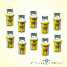 (10 Pack) - 6.3 Volt LED Bulb Flat Top 555 Base (T10) Pinball - YELLOW