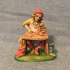 """Euromarchi Nativity Figure Figurine Shoe Cobbler, Made in Italy, 3 3/4"""" H"""
