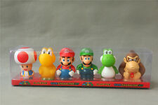 6PCS Super Mario Brother Cute Character Set Luigi Yoshi Toad Figure Statue