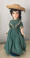 "VINTAGE MADAME ALEXANDER Little Women Jo Character DOLL With Dress 14"" Antique"