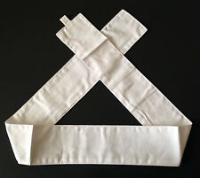 Japanese Shiro Kohaku Martial Arts Sports Hachimaki White Headband Made in Japan