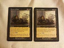 DECREE OF PAIN x2 (PAIR!) MTG SCOURGE - NM/M CONDITION - FREE SHIPPING!