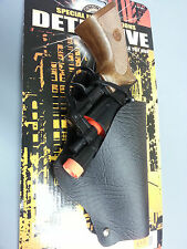 JR DETECTIVE TOY CAP GUN PISTOL AND HOLSTER WITH ORANGE TIP LENGTH 6""