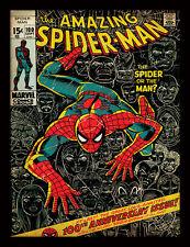 Spiderman 100th ANNIVERSARIO-incorniciato 30 x 40 Stampa Ufficiale
