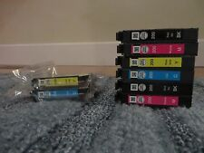 Epson 200 Ink 1 New Blue 1 New Yellow and 6 Used Cartridges