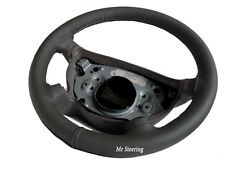 FITS VW EOS 06-12 REAL DARK GREY LEATHER STEERING WHEEL COVER TOP QUALITY