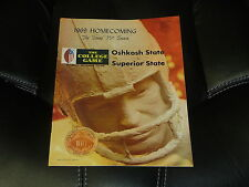 1969 WISCONSIN STATE WSU-OSHKOSH VS SUPERIOR STATE COLLEGE FOOTBALL PROGRAM