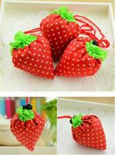 Reusable Strawberry Folding Foldable Shopping Bag Grocery Tote Shopper Bags Y2