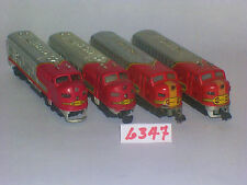 N SCALE SANTA FE AT&SF WARBONNET COVERED WAGON ENGINE LOT BLOWOUT Auction # 6347