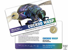 2014 Bright Bugs Series - Cuckoo Wasp One Dollar ($1) UNC Australian coin