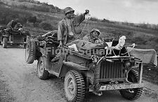 WW2 Picture Photo US Medics trasporting wonded in a jeep in Saipan 1944 1267