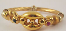 Magnificent Thick 18k Yellow Gold Heavy Braided Woman's Bracelet Estate Jewelry