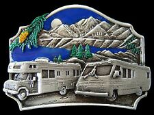 BOUCLE DE CEINTURE CAMPERS CAMPING TRAILER PARK MEN'S COOL BIG BELT BUCKLES