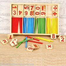 Kids Preschool Educational Montessori Mathematical Intelligence Math Stick Toys