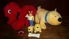Lot Vintage 1990 DAKIN Clifford Big Red Dog PBS PVC Cake Toppers Plush Stuffed