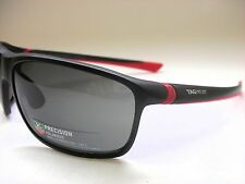 AUTHENTIC TAG HEUER TH6023 902 MATTE BLACK RED/GREY POLARIZED 65mm SUNGLASSES